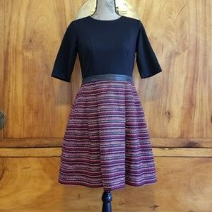 Shoshanna wool blend tweed dress